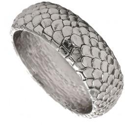 Silberarmreif mit Schlangenprägung