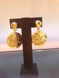 Ohrringe Kroko vergoldet